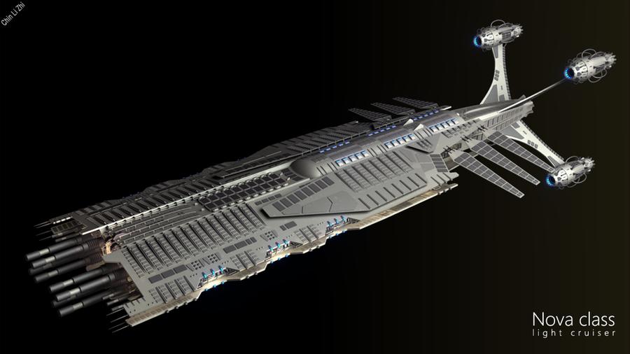 Nova class light cruiser by Progenitor89