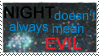 night not evil stamp by OmegaDreamSeeker11