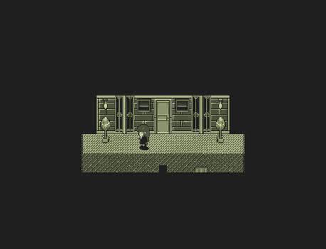 Game Boy Pixel Art: Basement Corridor