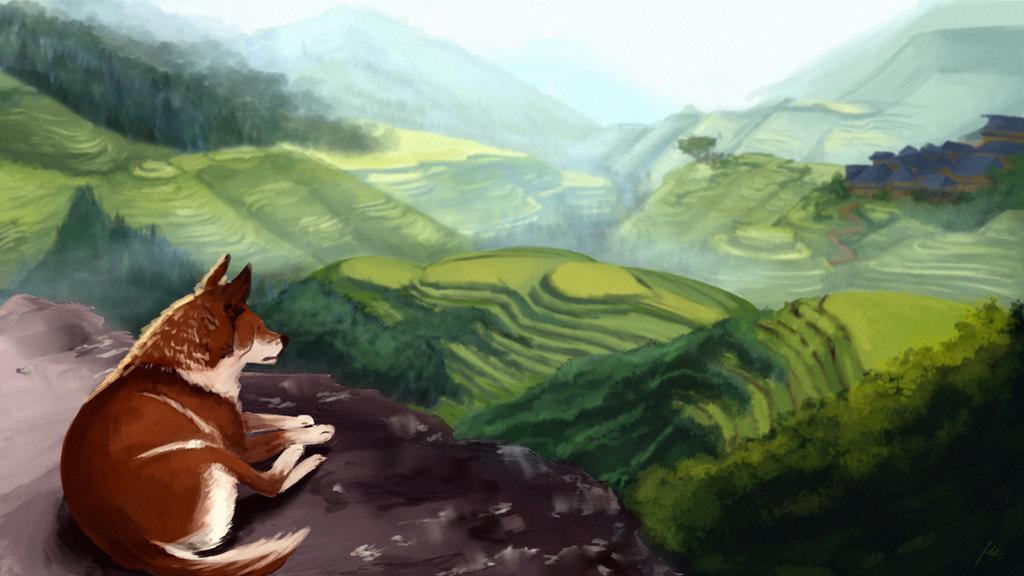 Glancing at hills by Lejla99