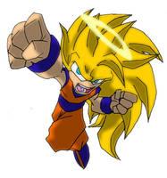 DBZ goes Sonic the Hedgehog: Goku SSj3 by Hero-Jaxx