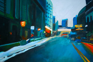 blurry city lights by Taylor-Cox