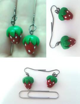Strawberry Earings