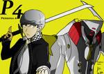 Yu Narukami and Izanagi no Okami by fighterxaos