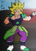 Super Saiyan Broly by fighterxaos