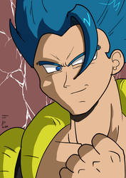 Gogeta blue by fighterxaos