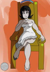 Mistress Ecchi on her Throne by fighterxaos