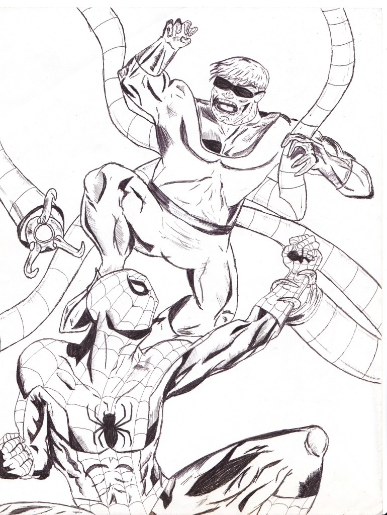 Doc Oc Free Coloring Pages Doc Ock Coloring Pages