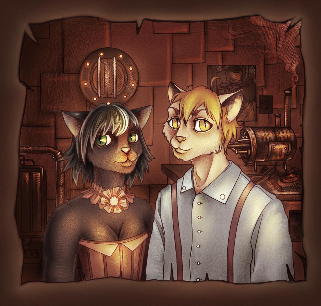 Steampunk!furry by maryallen138