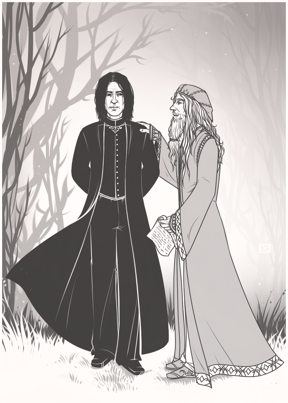 HP: Severus Snape|Albus Dumbledore by maryallen138