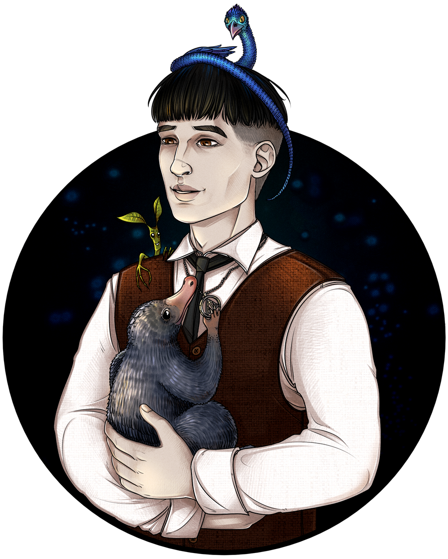 Credence Barebone with beasts by maryallen138