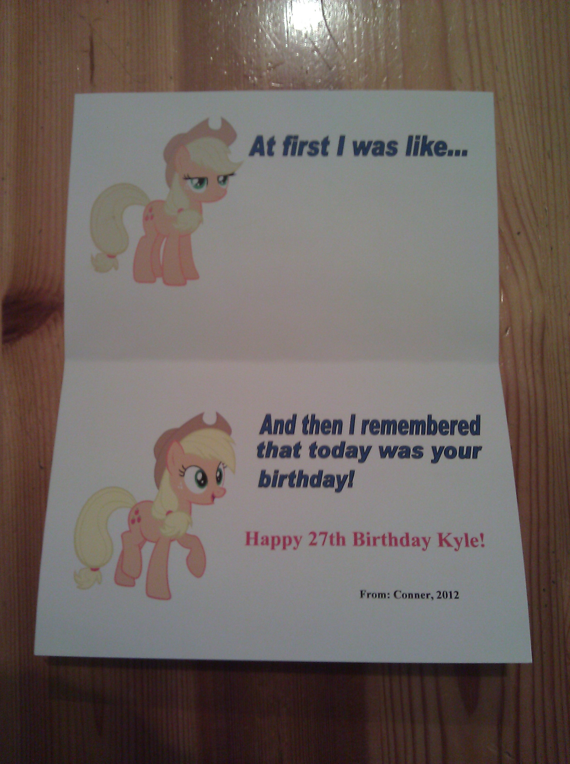 My Little Pony Friendship is Magic Birthday Card by Game BeatX14