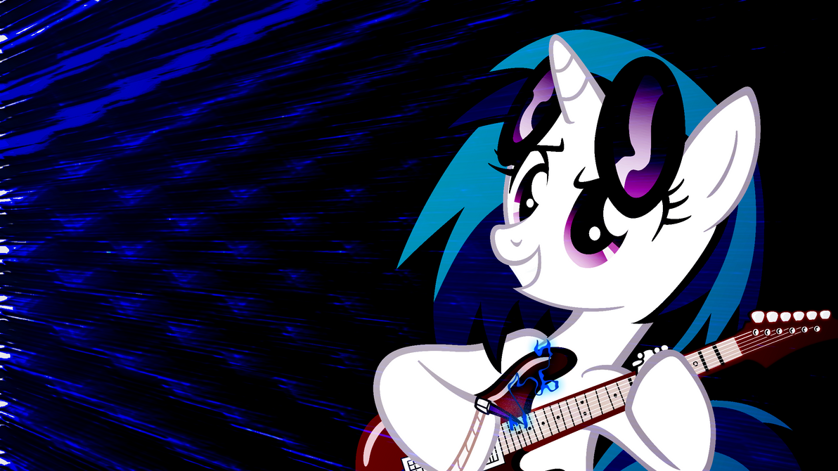 Vinyl Scratch Shredding Wallpaper by Game-BeatX14