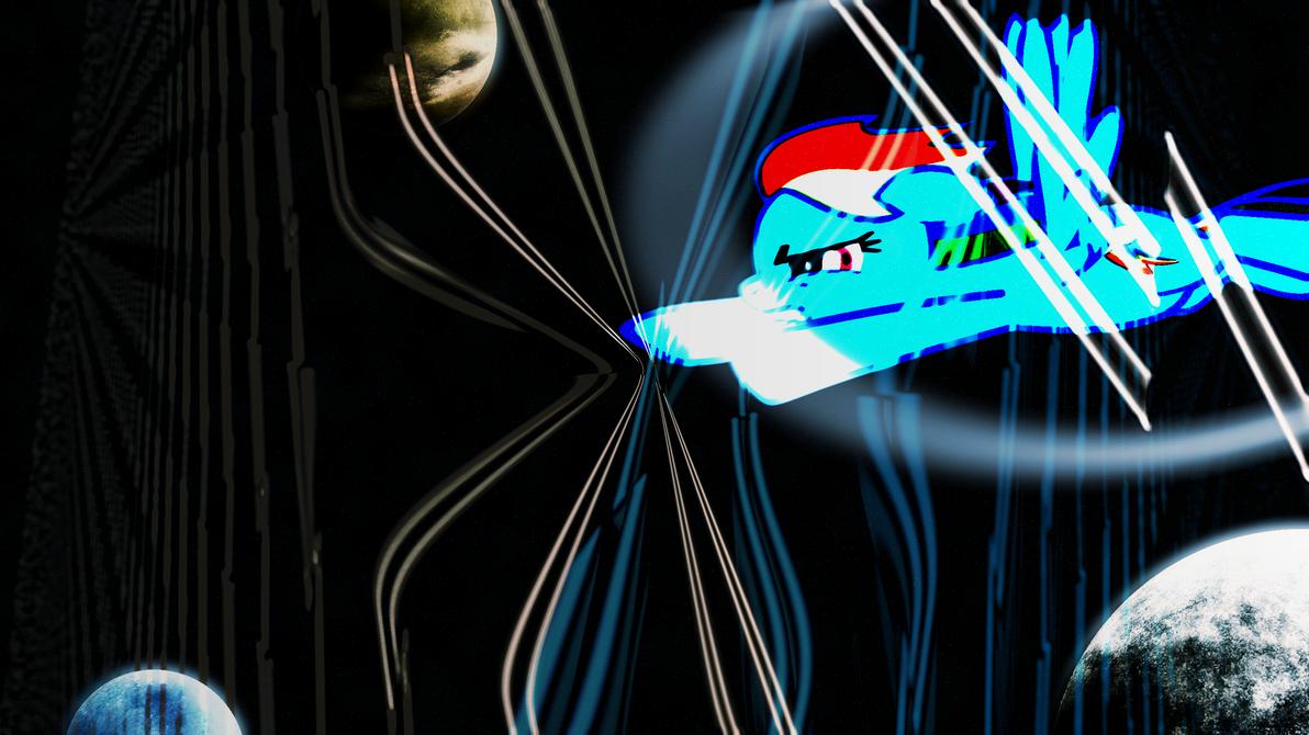 Rainbow Dash Space Rainboom Wallpaper by Game-BeatX14
