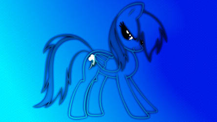 Rainbow Dash Outline Wallpaper by Game-BeatX14