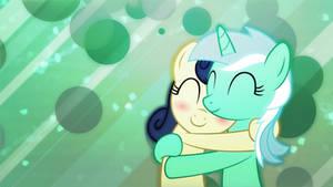 Lyra and Bon Bon Cuddles