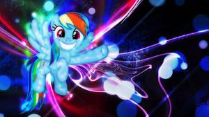 Neon Smiley Rainbow Horsebutt