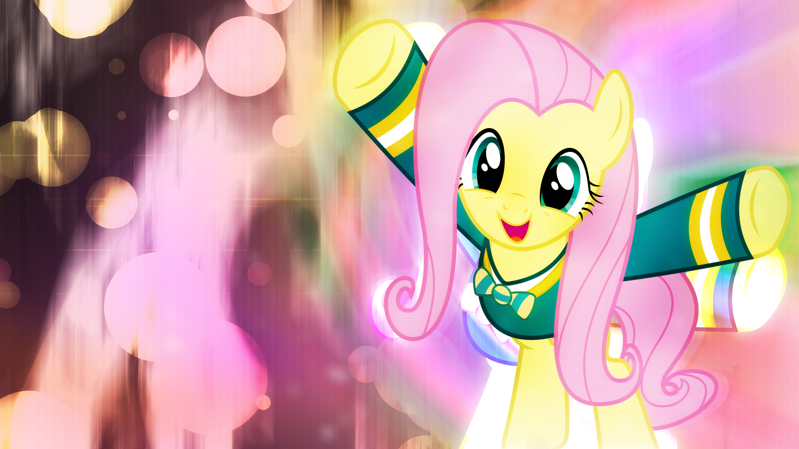 Fluttershy Found the Music by Game-BeatX14