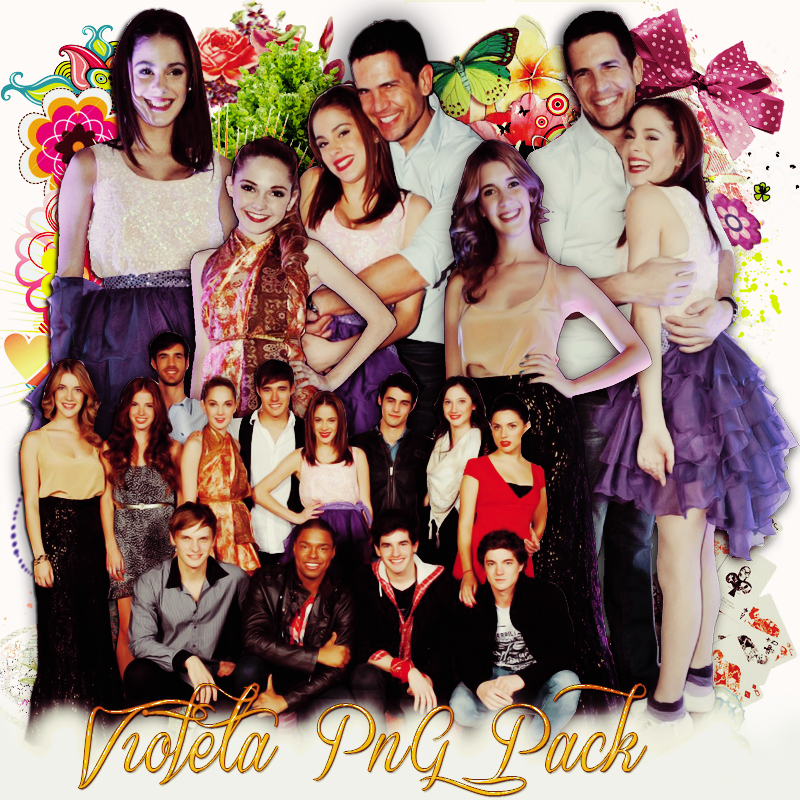 Pack png 201 Violeta by MichelyResources