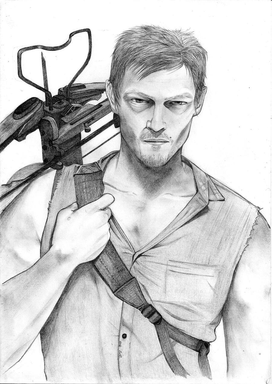 How To Draw Daryl Dixon page 2
