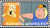Stamp: Burning Assholes by ReiBogatu