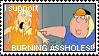 Stamp: Burning Assholes by ReiBogatu