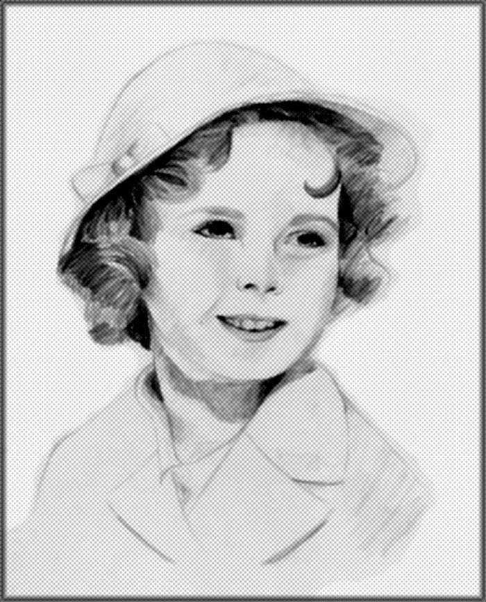 Retrato Shirley Temple by thynaluna