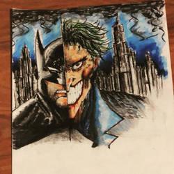 Batman/Joker by Tokyoc