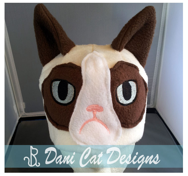 grumpy cat hat by saiyanyoko on deviantart. Black Bedroom Furniture Sets. Home Design Ideas