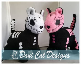 Sugar Kittens, White and Pink! by saiyanyoko