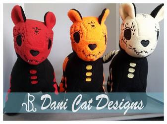 Sugar Kittens, Red, Orange, Yellow! by saiyanyoko