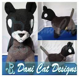 Bat Cat Plush by saiyanyoko