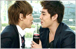 Sungmin, Kangin and a Coke GIF by Leela-C