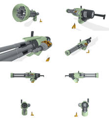 Minigun Model for Big Guns Bobblehead