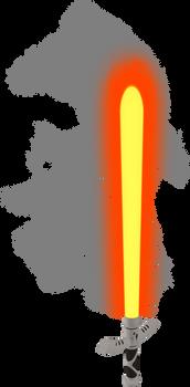 Orange Lightsaber with Smoke