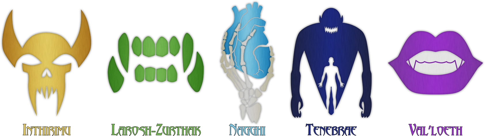 Dungeons and Dragons Vampire Bloodline Symbols