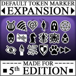 5e Token Markers - Roll20 Marketplace Banner