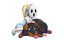 Lys and Shnee pixel chibi by 60-Six