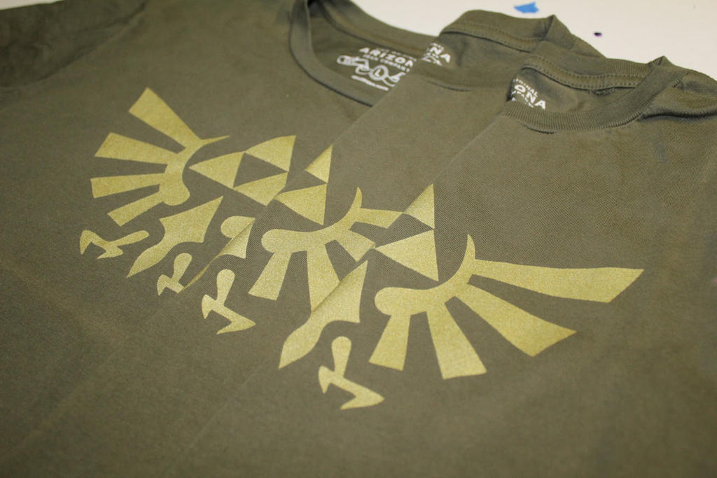 Legend Of Zelda T Shirt Screen Printed At Home By