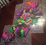 Skull Kid Perler Bead Art