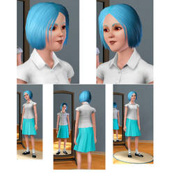 Sims 3- Rei Ayanami by TheNicelookingHat