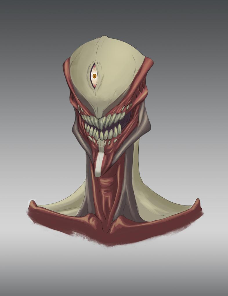 Creature Bust 1 by ArtsyCaveman