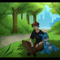Jerry and Veemon by joekabox
