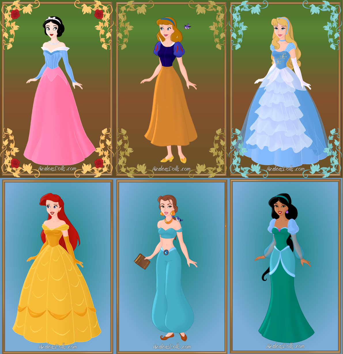 Disney Princess Outfit Swaps 1 by monkeypizzasonic on DeviantArt