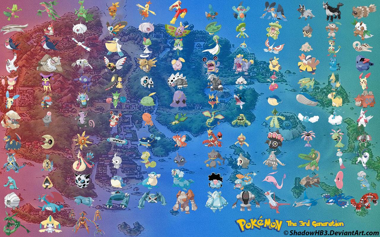 Pokemon 3. Generation
