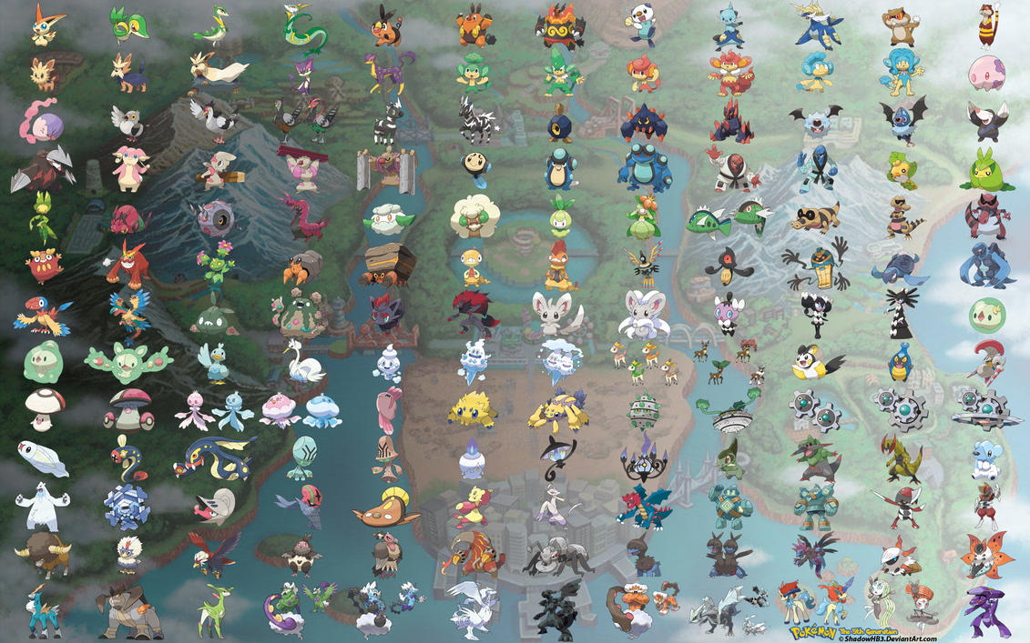5th Generation Pokemon Starters Images Pokemon Images