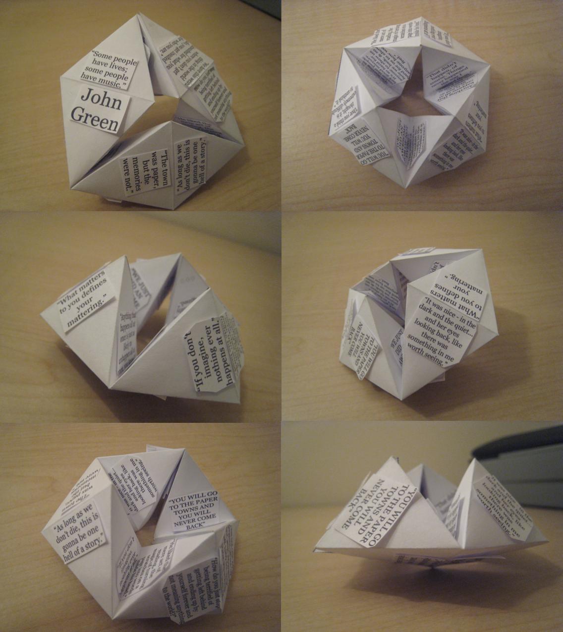 John Green Quote Hexaflexagon 'Card' by CATSAREGREAT on