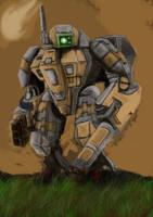 warhammer 40k tau battle suit by bazral234