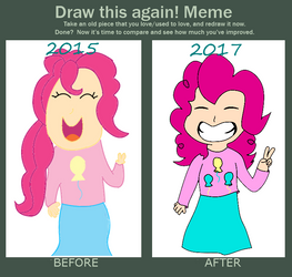 Human Pinkie Pie (Before and After Meme) by Ship-or-be-Shipped