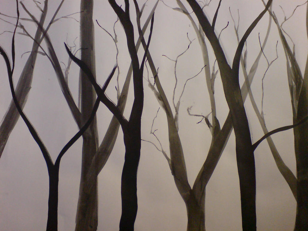 Ink Tree Drawings 4 By Kiriaki ...